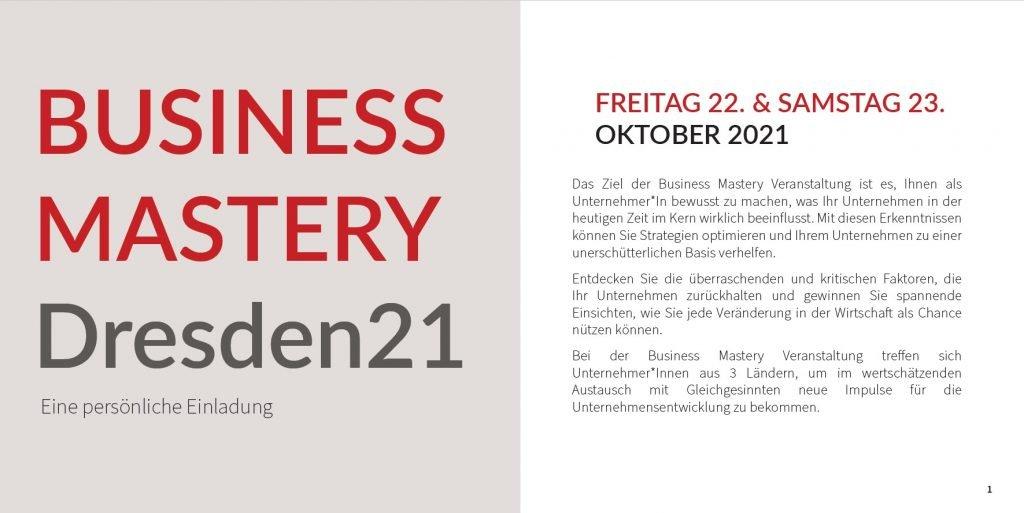 Business Mastery Dresden 2021 1